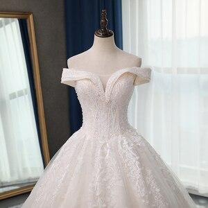 Image 5 - Fansmile jakość długi pociąg Vestido De Noiva koronkowe suknie ślubne 2020 Plus rozmiar spersonalizowany suknie ślubne suknia ślubna FSM 070T