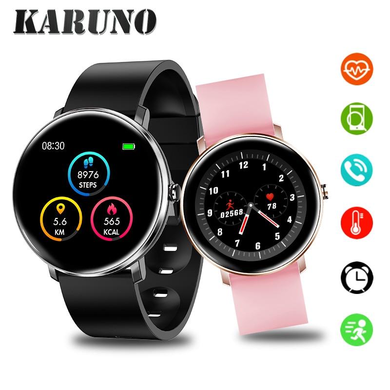 KARUNO Smartwatch H11 Fitness Men Women Clock Color Screen Blood Pressure Heart Rate Monitoring Waterproof Smart Clock Bracelet