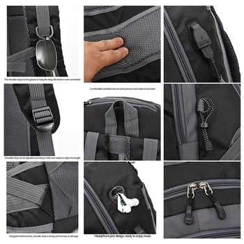 40L unisex waterproof men backpack travel pack sports bag pack Outdoor Mountaineering Hiking Climbing Camping backpack for male 4
