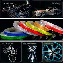 Светящиеся наклейки для автомобиля «сделай сам», 8 метров светоотражающая лента, ночной Светильник для велосипеда, мотоцикла, грузовика, с п...