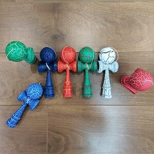 Image 3 - 18CM Riss Farbe Holz Kendama Ball Geschickte Jonglierball Spielzeug Japanischen Traditionellen Zappeln Ball Kinder Erwachsene Freizeit Sport Geschenk