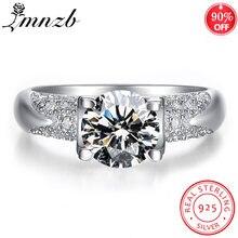 Lmnzb 100% Стерлинговое Серебро 925 пробы обручальное кольцо