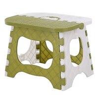 Plástico dobrável fezes espessamento cadeira portátil móveis para casa crianças conveniente jantar fezes