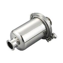 Filtro sanitario corto en línea Fit 19/25/32/38, tubo Tri abrazadera SS304 de acero inoxidable, virola de filtro de mosto para vino OD 50,5 cuerpo 102mm