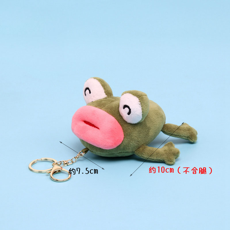 Creative Small Keychain Pendant Cartoon Scented Frog Doll Stuffed Animal Plush Toy