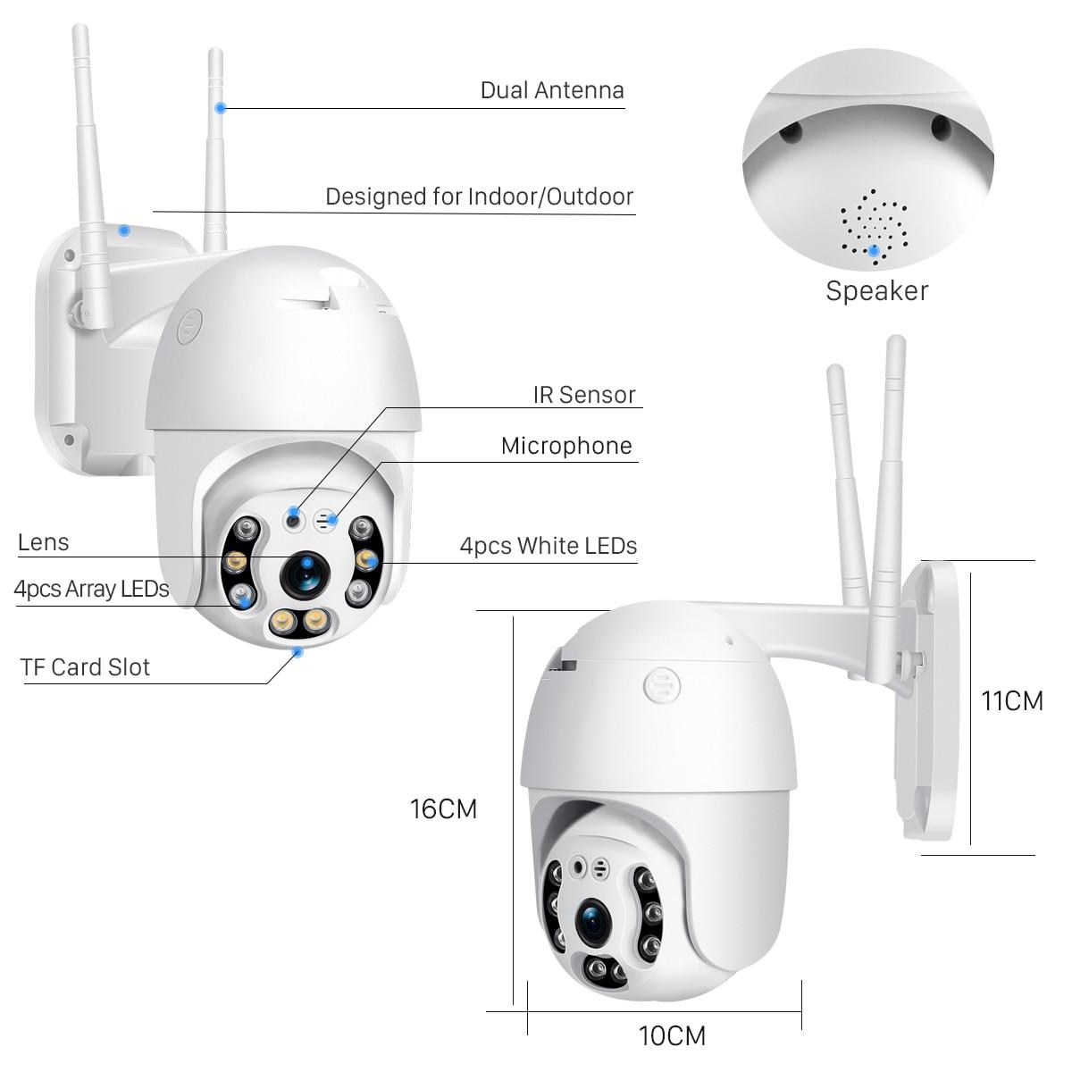H8abe084bb14d47c1929fe2803b1b8462d BESDER 1080P Outdoor Speed Dome Wifi Camera 2MP H.265 Audio PTZ Wireless Camera Cloud-SD Slot ONVIF Home Surveillance IP Camera