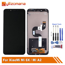 Original 5.99 For Xiaomi Mi A2 MIA2 LCD Touch Screen Display Panel Digitizer With Frame For Mi 6X MI6X M6X Display + Tools new and original mi lcd panel