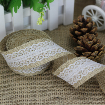 5 Meter Rural Linen Ribbon Wedding Decorative Accessories Natural Jute Burlap Roll for Table Runner Tablecloth