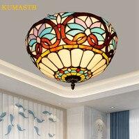 Dia40cm барокко потолочные светильники для гостиной кабинет Ресторан Винтаж плафон лампа Европейский сад спальня плафон Techo
