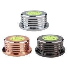 Estabilizador universal da plataforma giratória do disco do jogador do registro do vinil de 50hz lp com braçadeira de peso da liga de alumínio nível