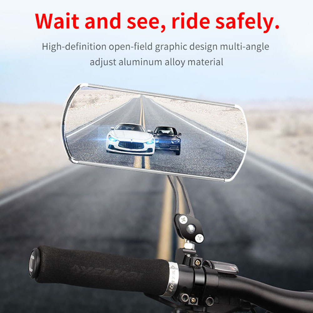 2PCS Flexible Bicycle Rear View Mirrors Cycling Handlebar Mirror Safe Mirror