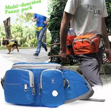 Pet training pack Outdoor dog walking Snackpack multi-functional Running fanny Sport traction