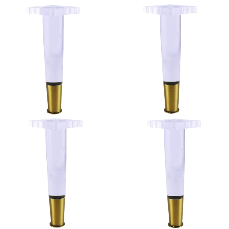 4Pcs/Set 4Inch Tapered Acrylic Sofa Legs Plexiglass Table Legs Acrylic Cabinet Legs Furniture Accessories Chair Legs