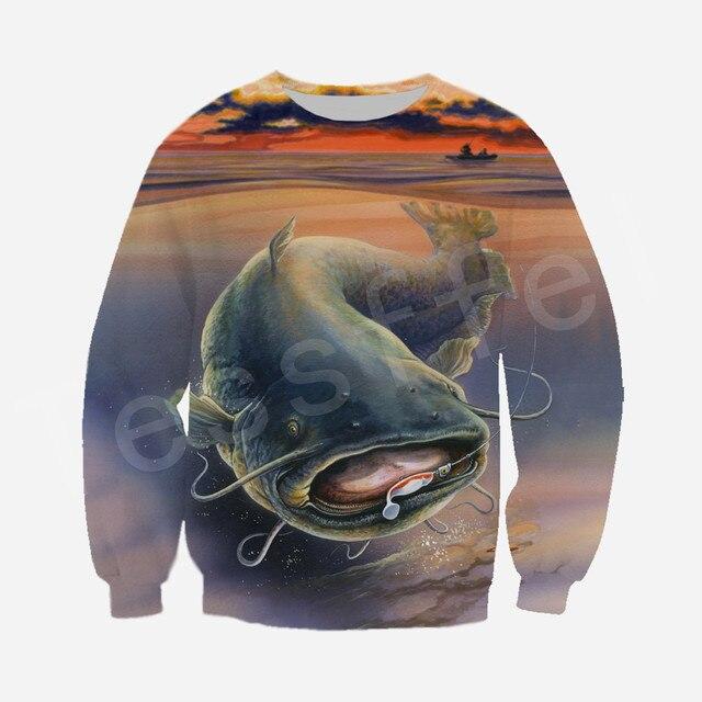 Tessffel New Fashion Animal Fishing Art Harajuku casual Tracksuit Funny 3D Print Zipper/Hoodie/Sweatshirt/Jacket/Mens Womens s-1