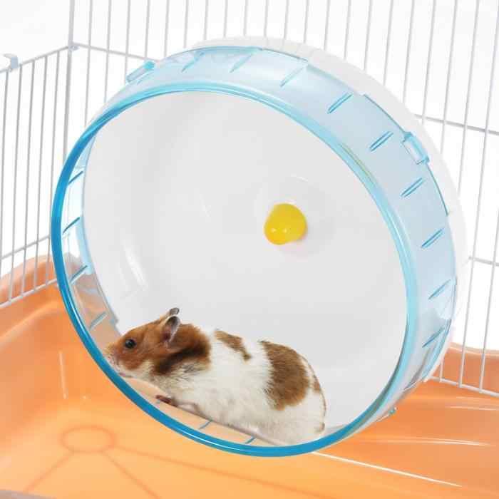 ใหม่สัตว์เลี้ยงหนูแฮมสเตอร์Running Discของเล่นเงียบหมุนล้อจ๊อกกิ้งสัตว์เลี้ยงกีฬาล้อของเล่นอุปกรณ์กรง