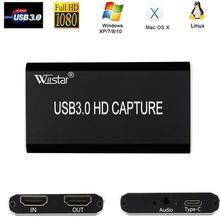 Tarjeta de USB C HDMI a TYPE C USB 3,0 captura de vídeo HDMI para transmisión en vivo de juegos