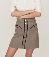 2019 autumn and winter new wild houndstooth A word short skirt s female