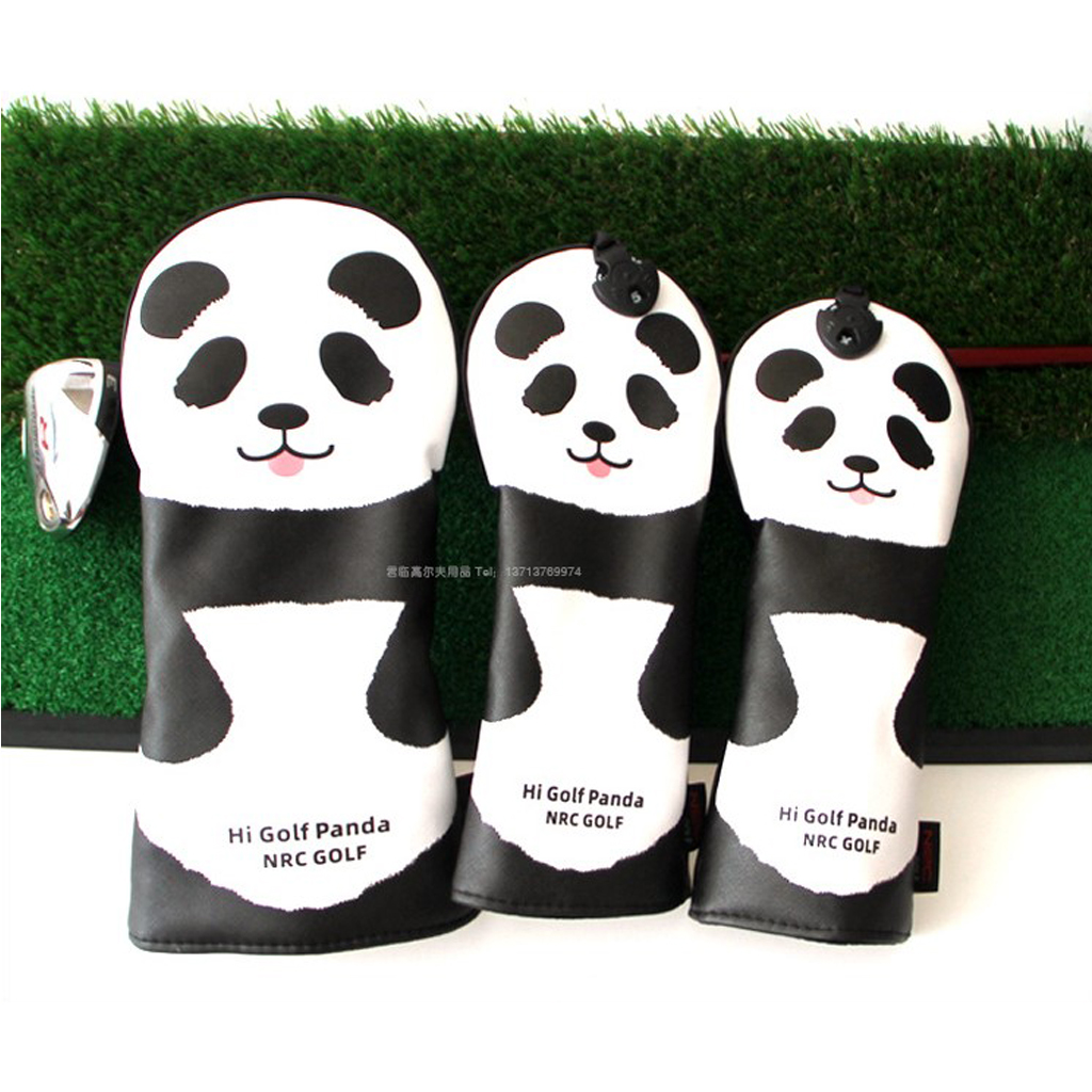 3 Pieces Golf Club Headcover - Wood Driver Head Protective Cover - Universal Fit - Lightweight, Utility & Durable