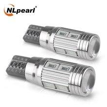 Nlpearl 2x12v luz de sinal t10 led w5w lâmpada super brilhante 5630smd 5w5 led canbus luzes interiores do carro afastamento invertendo lâmpada