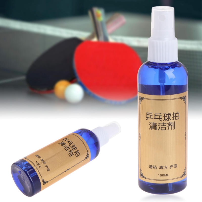 OOTDTY 100ml Cleaning Agent Cleaner For Table Tennis Pingpong Rubber Racket Bats D0UF