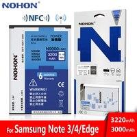 NOHON batería para Samsung Galaxy Note 3 4 Note3 Note4 N9000 N9005 N9006 N9100 N910X NFC Original Real Bateria