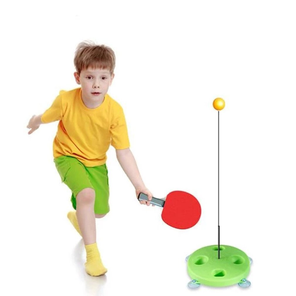 Table Tennis Trainer With Elastic Soft Shaft Ping Pong Training Tools For Children Indoor Or Outdoor Play