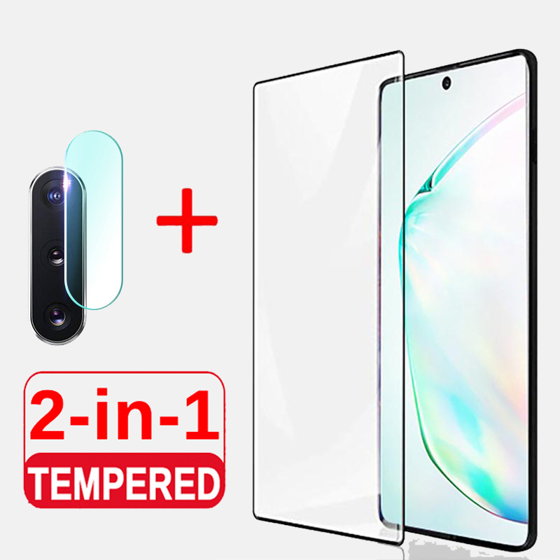 2-in-1 Tempered <font><b>Glass</b></font> For <font><b>Samsung</b></font> Galaxy Note 10 10pro 10+ <font><b>Camera</b></font> Screen Protector For <font><b>Samsung</b></font> <font><b>S9</b></font> S8 S10 Plus Note 9 <font><b>Glass</b></font> Film image