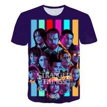 Newest Stranger Things 3 T Shirt Boys Girl Harajuku Funny Movie Tshirt Fashion Kids 3D Printed Short Sleeve T-Shirt