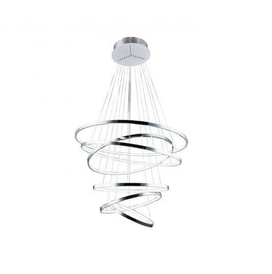 Luxury Nordic Large 6 Rings Led Pendant Lights Chrome /White /Gold R Creative Led Hanging Lamp For Living Room Lustres Luminaire
