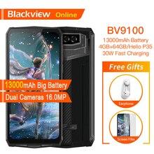 Blackview BV9100 オリジナル防水堅牢なスマートフォン 13000mah 4 ギガバイト + 64 ギガバイト屋外携帯電話アンドロイド 9.0 エリオP35 4 3g携帯電話