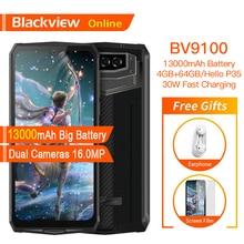 Blackview BV9100 Original Wasserdichte Robuste Smartphone 13000mAh 4GB + 64GB Outdoor Handy Android 9,0 Helio P35 4G Handy