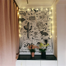 Saguaro Hippie tapiz de pared tela colgante Boho decoración Ouija paño de pared tapices Alfombra de pared gobelina tapiz Cactus Mandalas