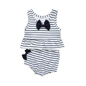 Stroje kąpielowe w paski dla dzieci chłopców i dziewcząt dwuczęściowy kostium kąpielowy kostiumy kąpielowe bikini kąpielowe Maillot de bain feminino tanie i dobre opinie ARLONEET Poliester Pasuje prawda na wymiar weź swój normalny rozmiar Dziecko dziewczyny Dwa Kawałki polyester Striped