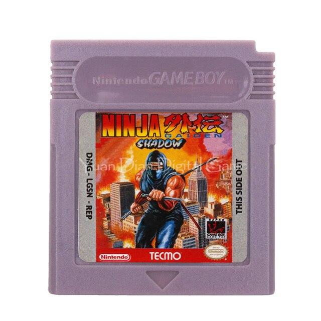 עבור Nintendo GBC וידאו משחק מחסנית קונסולת כרטיס Ninja Gaiden צל אנגלית שפה גרסה