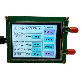 ADF4350 RF Signal Source Generator Wave Point Frequency Sweep Contact Screen LCD Display Control adf4350 adf4351 pll pll rf signal source frequency synthesizer
