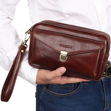 Men's Leather Clutch Wrist Money Bags Wallet High Quality Co