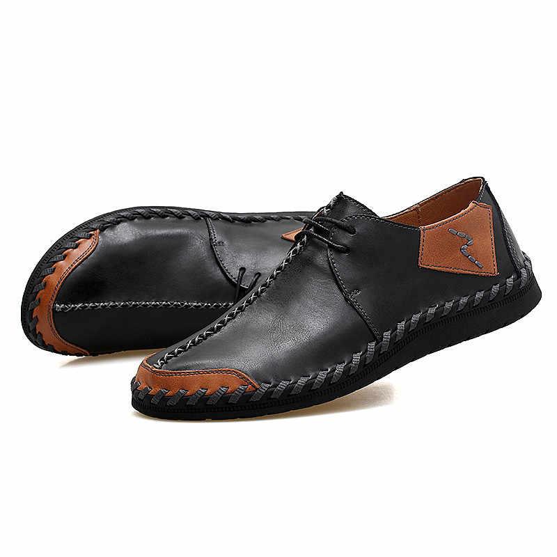 הג 'נטלמנים עור נעלי גברים נעלי ספורט גברים מאמני שרוכים שטוח נהיגה נעלי Zapatillas Hombre מקרית דירות