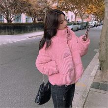 Abrigo de pana de algodón para mujer de Chaqueta corta gruesa de invierno de prendas de vestir cálidas de alta calidad de PZ3570 2021