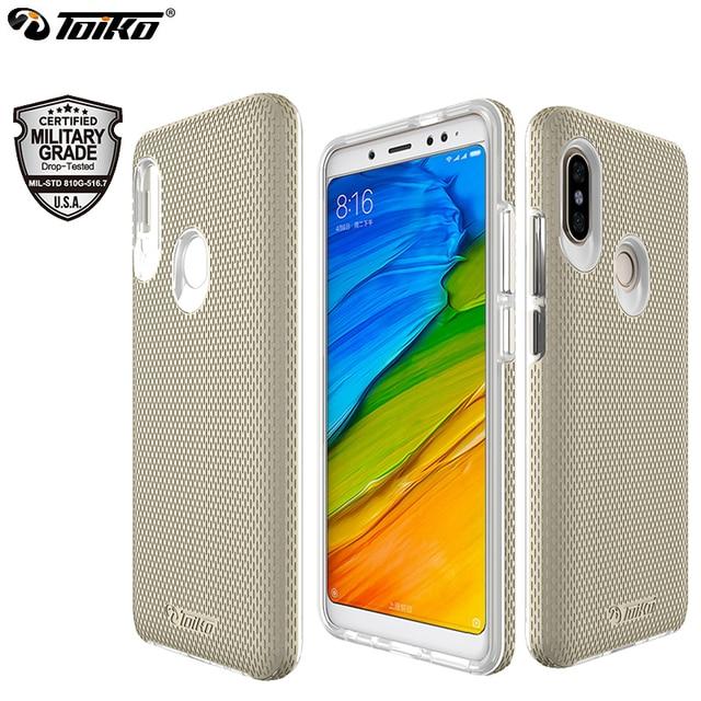 TOIKO funda protectora de doble capa funda de teléfono para xiaomi Redmi Note 5 Pro, Note 5, Global, PC duro, suave, TPU, a prueba de golpes