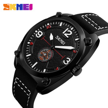 SKMEI Men Quartz Watch Leather Fashion Waterproof Watches Top Brand Sport Wristwatches Relogio Masculino Clocks 9155 high quality brand skmei new fashion casual silicone watches with japan quartz unisex wristwatches for men women gift wa3034