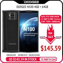 DOOGEE N100 мобильный телефон 10000 мАч батарея отпечатков пальцев 5,9 дюймов FHD+ Дисплей 21 МП камера MT6763 Восьмиядерный 4 Гб 64 Гб мобильный телефон 4G-LTE