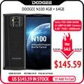 Doogee n100 celular 10000 mah bateria impressão digital 5.9 polegada fhd + display 21mp câmera mt6763 octa núcleo 4 gb 64 gb celular 4g-lte