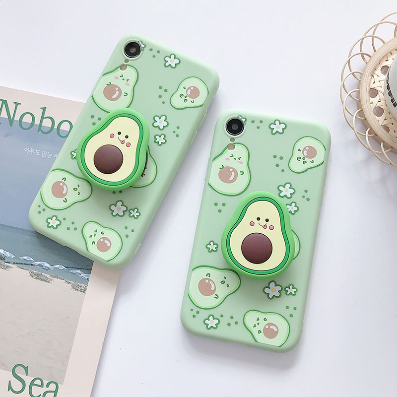 <font><b>3D</b></font> cartoon fruit avocado Soft silicone phone case for <font><b>Xiaomi</b></font> <font><b>Redmi</b></font> 5 Plus 5A 6 6A Note 4 <font><b>4X</b></font> 5 6 7 8 Pro Holder cover gift coque image