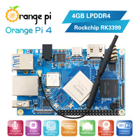 Orange Pi 4 4GB DDR4 Rockchip RK3399 Dual-core Cortex-A72+Quad-core Cortex-A53 Development Board Support Android,ubuntu,debian