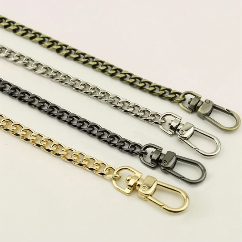 Diy 8mm Gold, Silver, Gun Black, Brass Bronze Chains Replacement Shoulder Bag Straps For Handbag, Purse Belts Handles 40cm-160cm