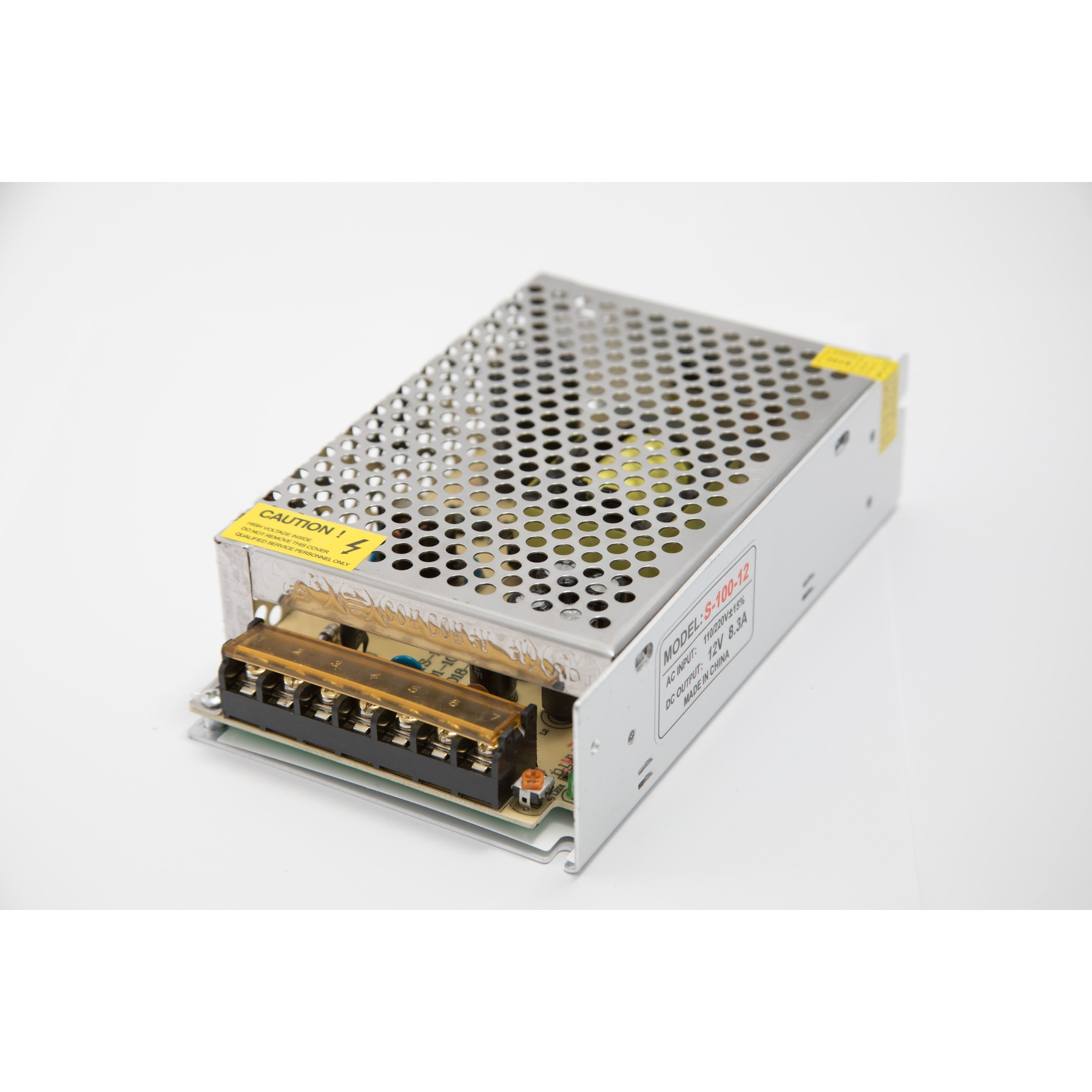 Power supply s-100-12, 100 W, 12 V, 8.3 A, IP22 power supply for led strip, led driver, transformer