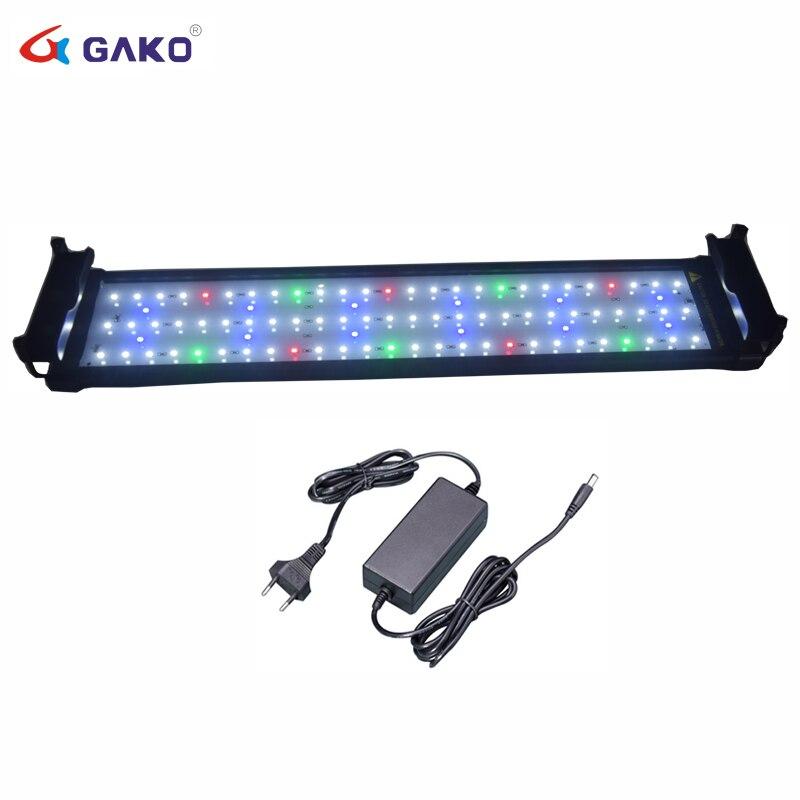 50 ~ 75cm 18W coloré LED pour Aquarium lampe d'éclairage avec supports extensibles 90 LED s convient pour Aquarium Aquarium Aquarium