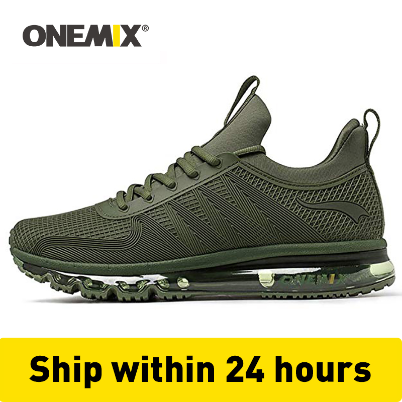 ONEMIX Classic Running Shoes For Men High Top Comfortable Waterproof Air Cushion Waking Sneakers Outdoor Jogging Winter Shoes