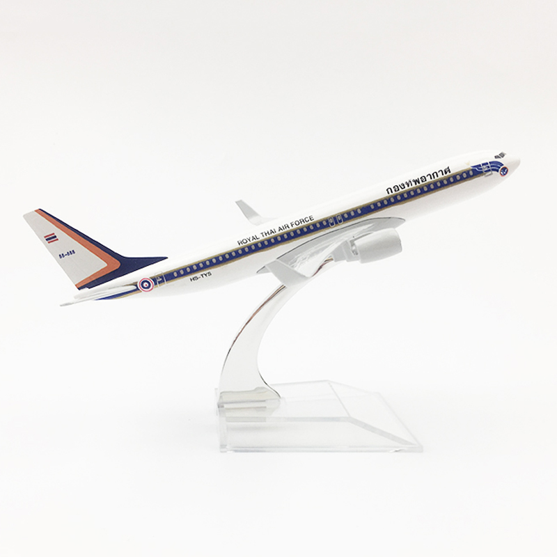 1/400 Scale 16cm Metal Aircraft Royal THAI Air Force  Boeing 737 Airlines Model B737 Airplane Toys Children Gift Collections