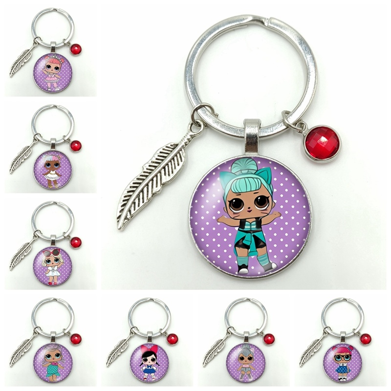 2019 New Hot Cute Fashion Girl Classic Action Figure Alloy Keychain, Give My Favorite Girl Gift Jewelry